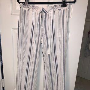 BCBG LONG LINEN PANTS